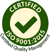 Logo: ISO 9001 - Certified quality management