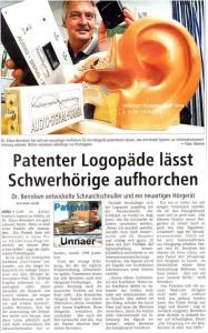 Artikelvorschau: Patenter Logopäde lässt Schwerhörige aufhorchen