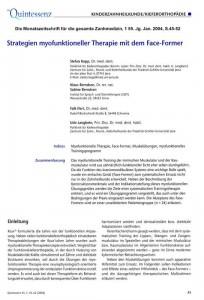 Artikelvorschau: Strategien myofunktioneller Therapie mit dem Face-Former