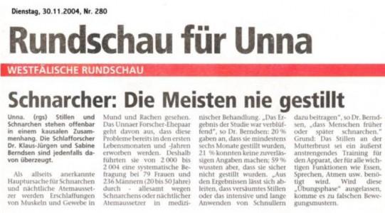 Artikelvorschau:Schnarcher - Die Meisten nie gestillt