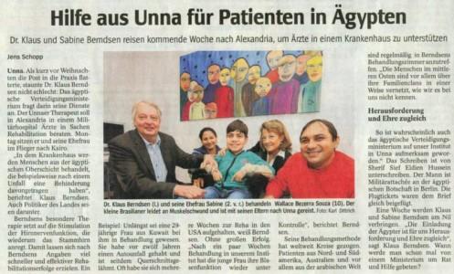 Artikelvorschau: Hilfe aus Unna für Patienten in Ägypten
